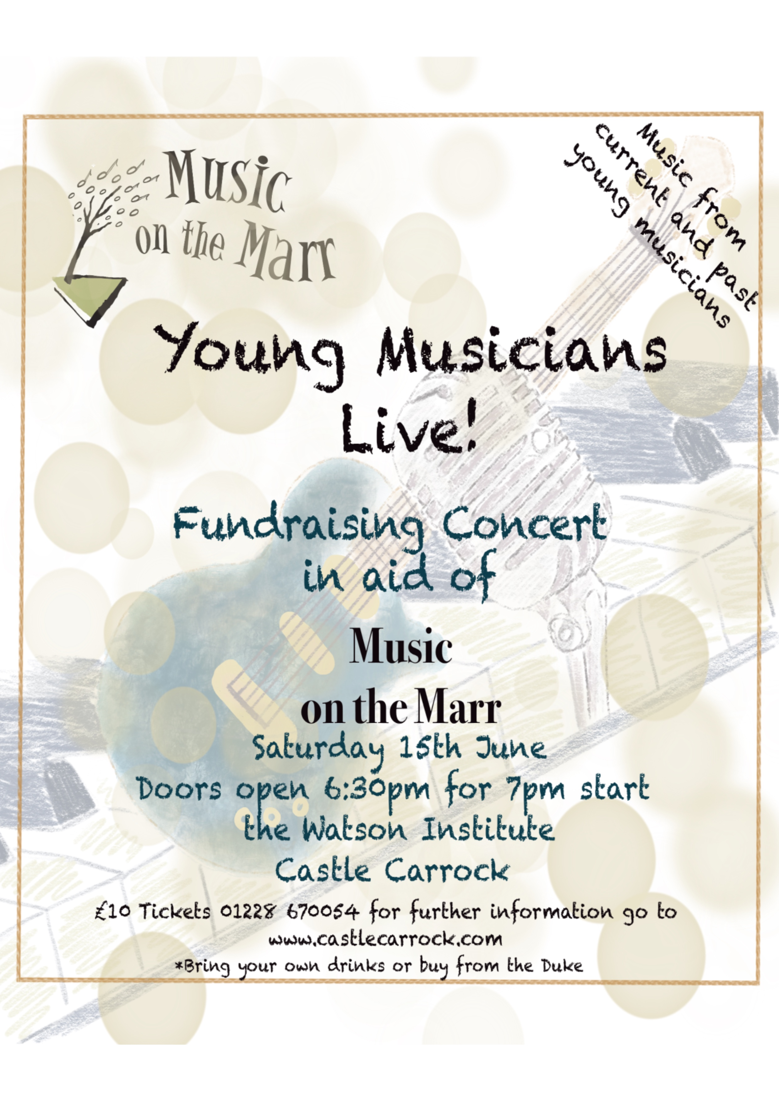 Young Musicians Live ! Music on the Marr fundraiser on Saturday June 15th